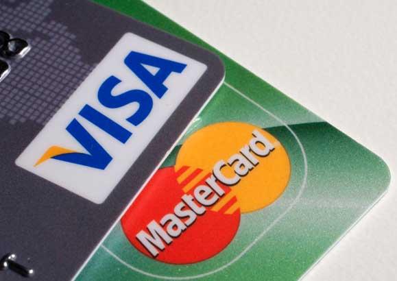 Пластиковые банковские карты Visa и MasterCard