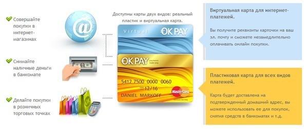 Особенности получения дебетовой карты OKPAY