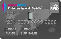 SmartMetric - пластиковые карты со сканером отпечатков пальцев