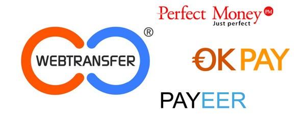 Выбор платежной системы для работы с Webtransfer-finance