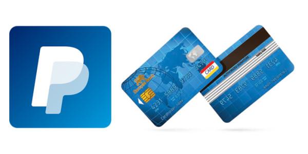 Выбор банковской карты для привязки к PayPal